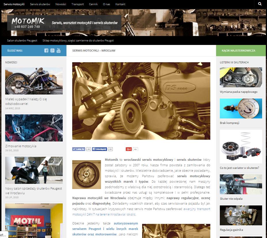motomik serwis motocyklowy wrocław