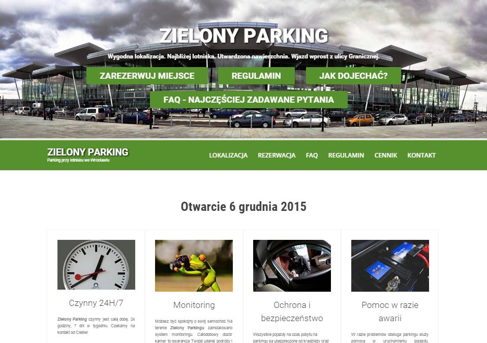 zielony parking lotnisko wrocław